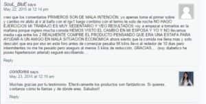 """Comentario refernte al producto """"RGX-1"""" hecho en fuxionprolife-team.com"""