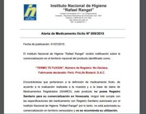 advertencia venezuela