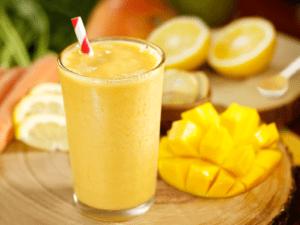 Delicioso batido de mango y kion