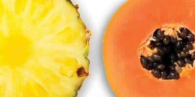 jugo de papaya, piña y tamarindo