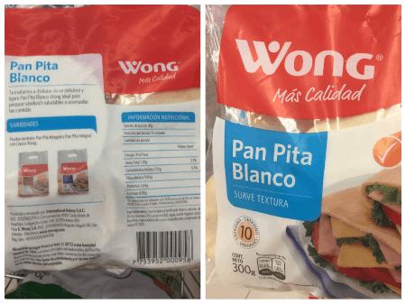 calorias de pan pita wong